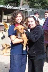 Tricia (ahora Bimba) con Aida y Cristina
