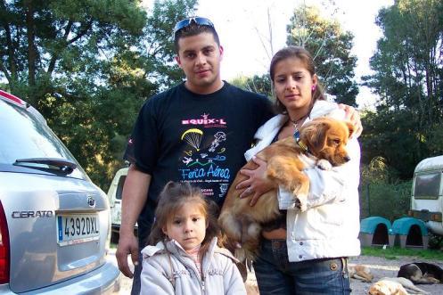 Riqui con César y familia
